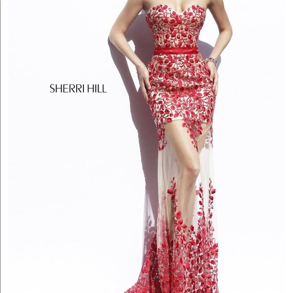 Sherri Hill Dresses | Gently Used Worn Once Red Prom Dress | Poshmark